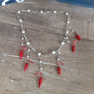 Vintage Handmade Chilis Necklace